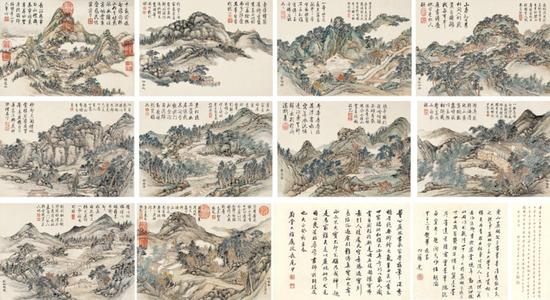 《金陵十景图册》亮相北京巡展
