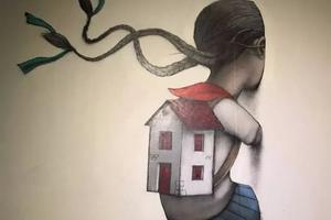 红遍朋友圈的墙绘艺术家走进了美术馆
