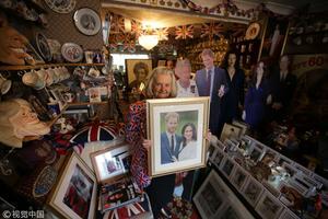 哈里王子大婚将近 骨灰级粉丝秀海量藏品