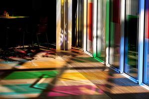 幻想色彩和灯光的摩根图书馆