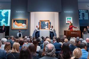 纽约苏富比印象派现代艺术晚拍总成交额3亿多美元