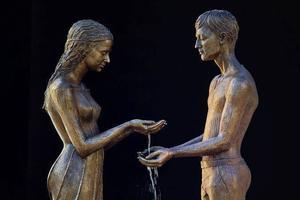 铜与水的诗意,你见过这么美的喷泉吗?