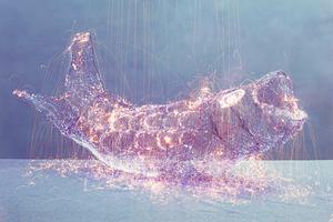 光绘的奇迹:全息创意摄影雕塑《My God》!