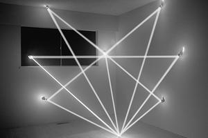 角度光构建的雕塑