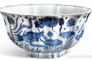 泓社鉴赏:明宣德青花鱼藻纹十棱菱口大碗