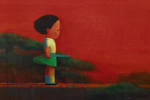 香港苏富比当代艺术晚拍精选: 刘野的中国红