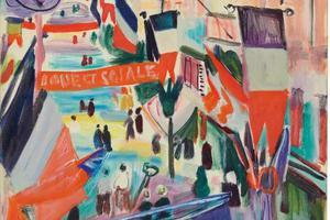 野兽派艺术大师劳尔·杜菲画笔下的法国国庆日