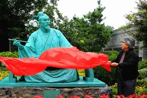 王羲之雕像落成仪式在即墨古城举行