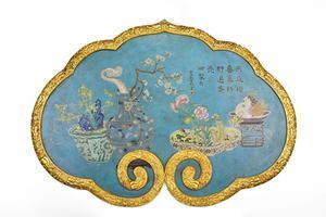 华艺国际秋拍:清乾隆 铜胎掐丝珐琅挂屏赏析