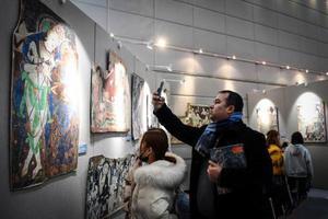海外克孜尔石窟壁画及洞窟复原影像在兰州展出