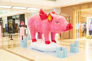 秦玮鸿个人艺术项目:猪年在西单大悦城遇见幸福