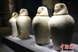 山东古埃及文物展 为文明交流互鉴架桥梁
