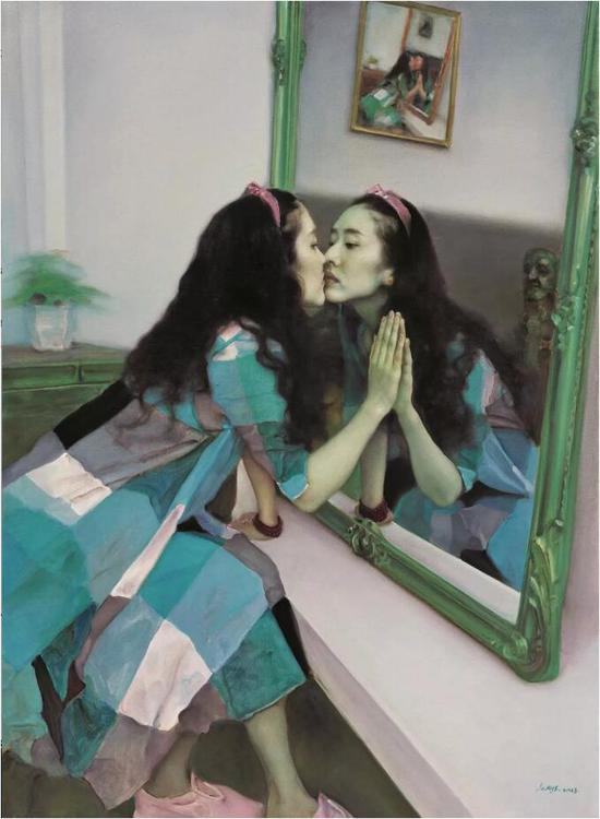 《镜花缘之二》布面油画 160cmx120cm 2013