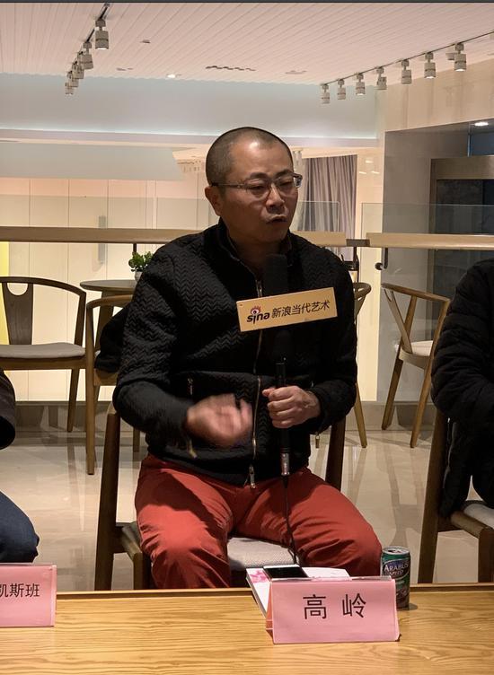 研讨会现场:艺术批评家高岭发言