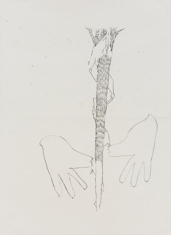 陈彧君,《仪式NO.140108》,水墨、宣纸,60×45cm,2014