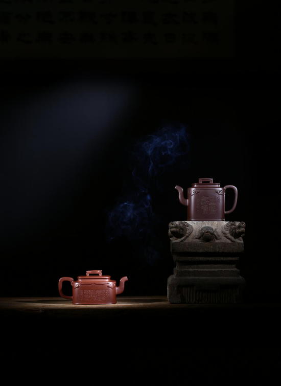 杨涛紫砂壶《琴瑟和鸣系列紫砂壶》