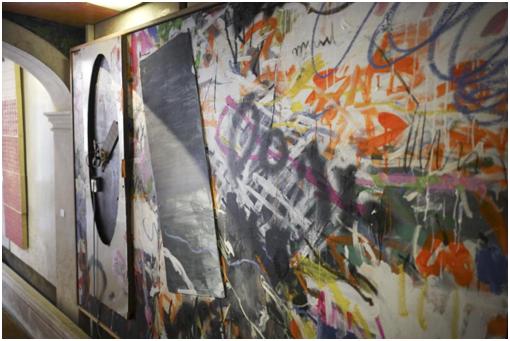 《镜子》杨述 / 镜子、木板、Led,布面丙烯画 / 180x260cm / 2016