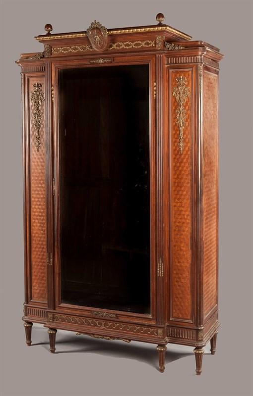 法国椴木断层式书柜 原产地 巴黎 约1900 年 林克出品