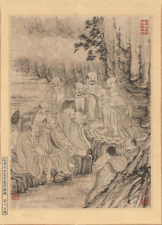 石涛罗汉百开册页