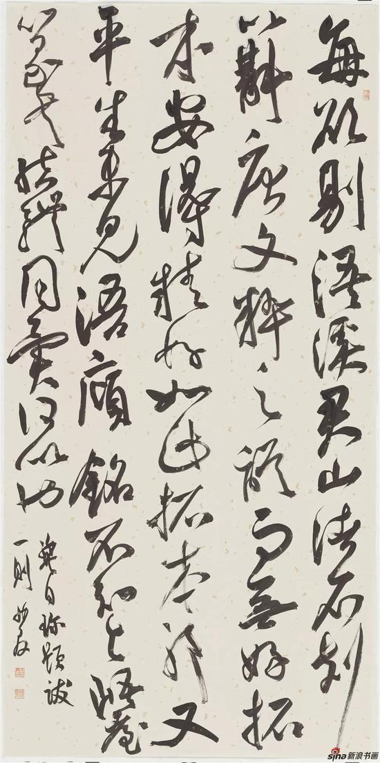 龚自珍题跋一则,纸本,140×69cm,2018年