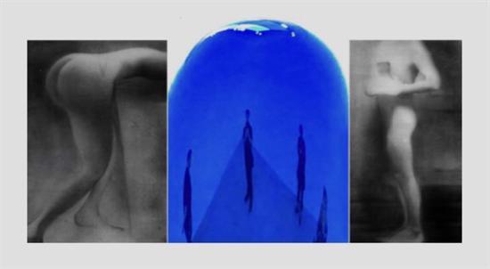 蔡广斌 自拍 水墨宣纸2+影像 200×156cm。 180×120cm。 180×100cm 2018年