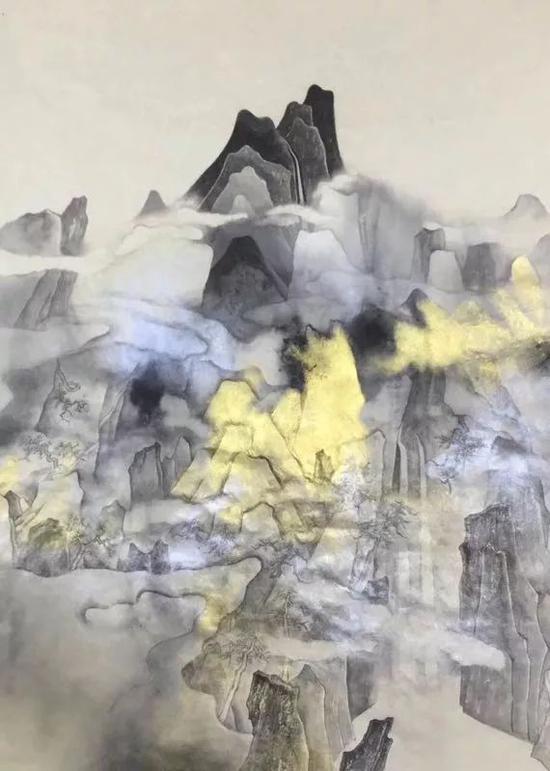 丁酉云山系列 75x48cm 纸本设色 2017