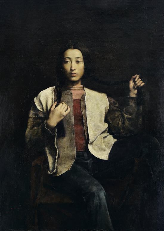 郭润文   梳妆   布面油画   109×77 cm 1997