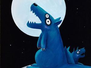 许京甫签名限量版画《月圆之夜》