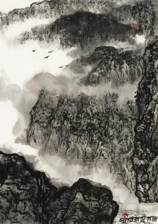 三峡云雾 48cm×34cm