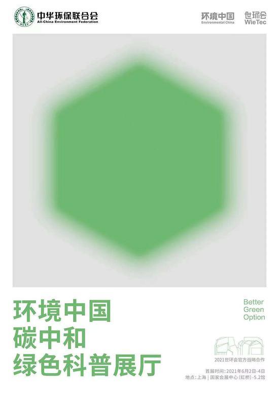 环境中国碳中和绿色科普展厅海报