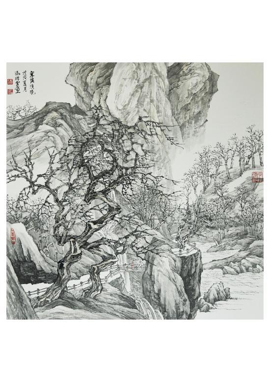 寒溪清晓 50x50cm 2018年