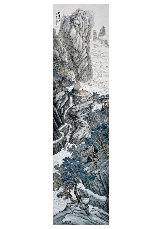 林壑云泉138×34cm 2015年