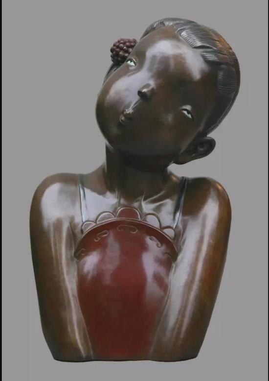 《你是我的诗篇》 40×23.5×21.5cm 青铜着色 2015