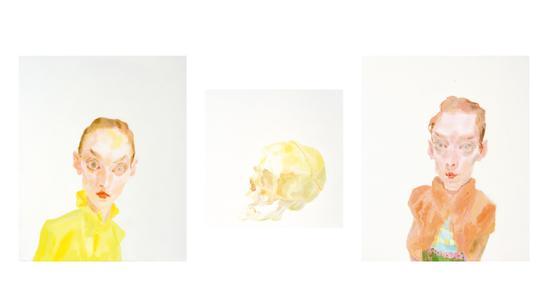 曾朴,《距离2》,布面油彩,55×46cm+40×40cm+55×46cm,2018
