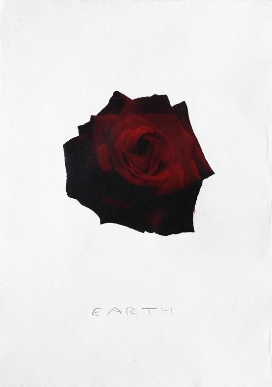 李容泽(韩)《EARTH》37.5×53cm, mixed medium on paper, 2018