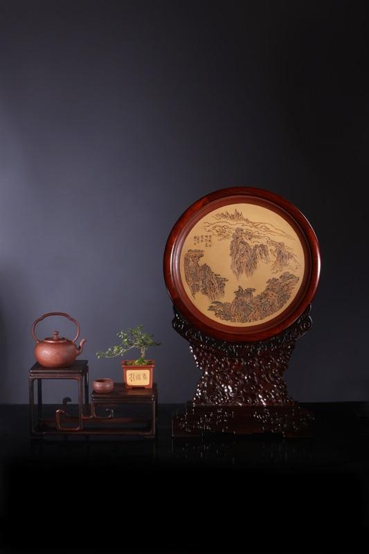 艺术家毛国强作品 山水有清音组合件