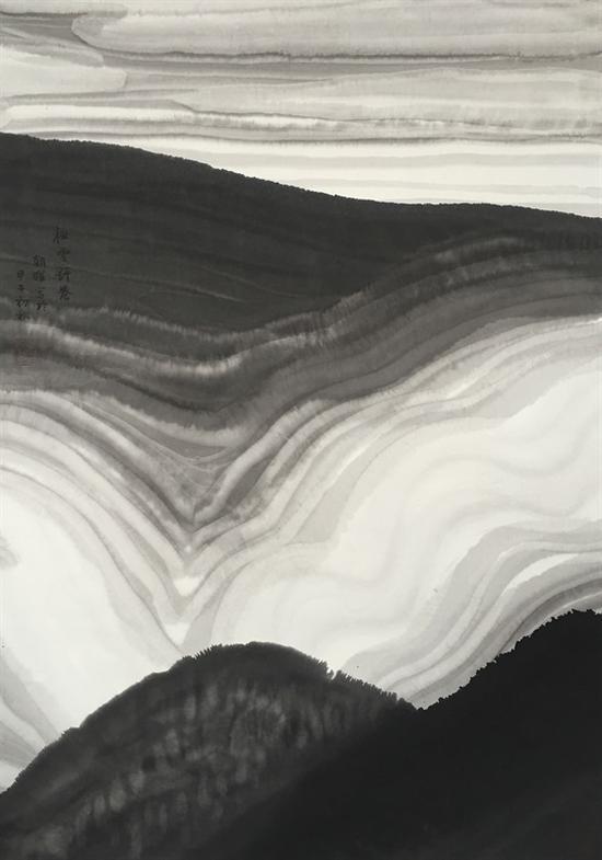 秋云舒卷 97x69cm 2014