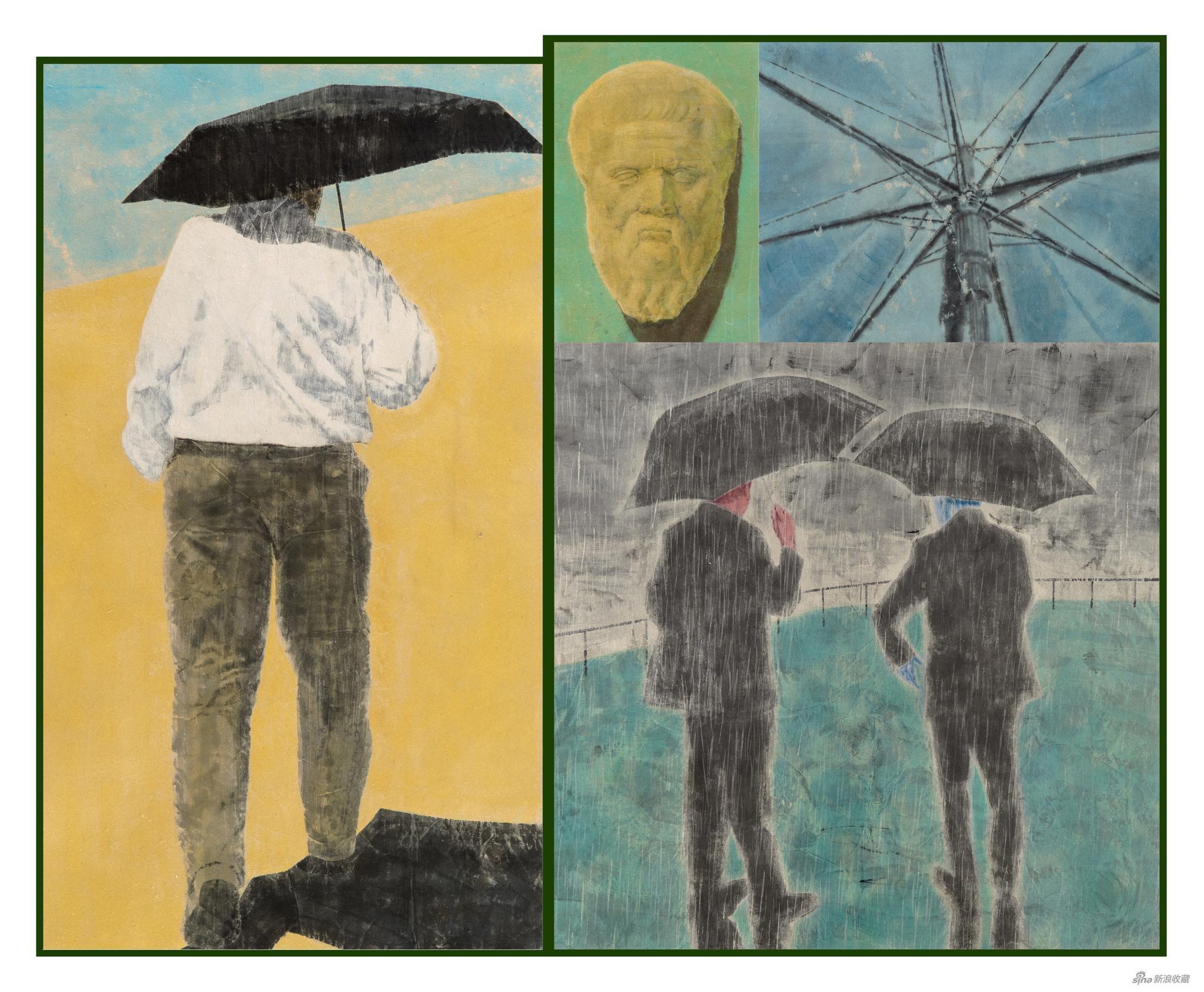 邢彦超 炙热的潮湿的坚定的 132×160cm 纸本水墨