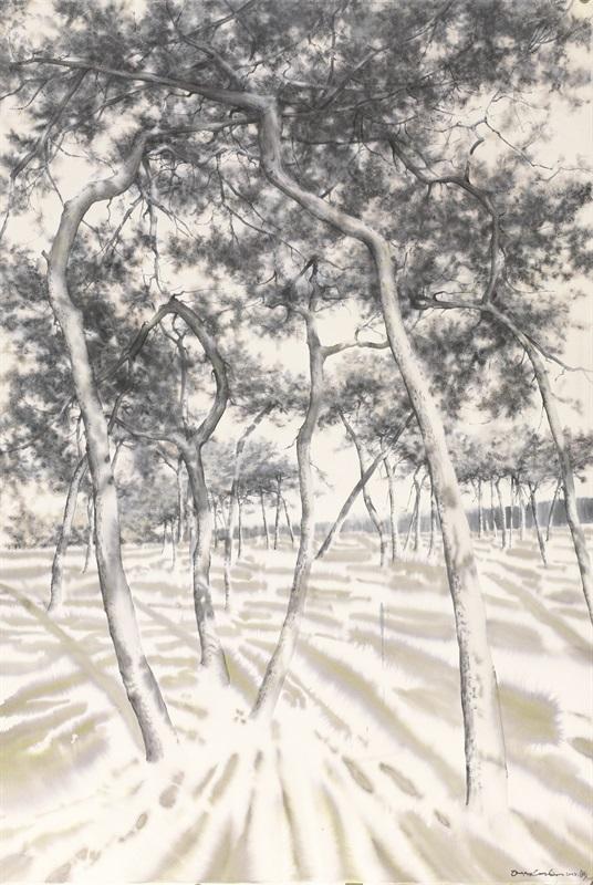 《傲骨--31》赵龙,150x100cm,纸上水彩2015