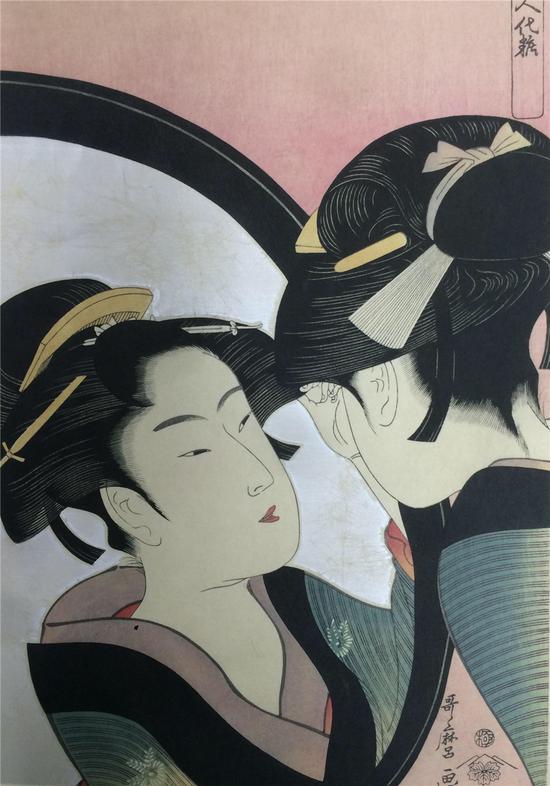 喜多川歌麿-《姿见七人化妆》-1792年