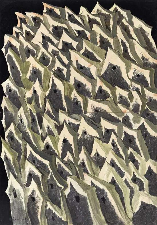 Lot.674 康海涛《十月之水》 2003年 纸本油画 153.5×106.5cm