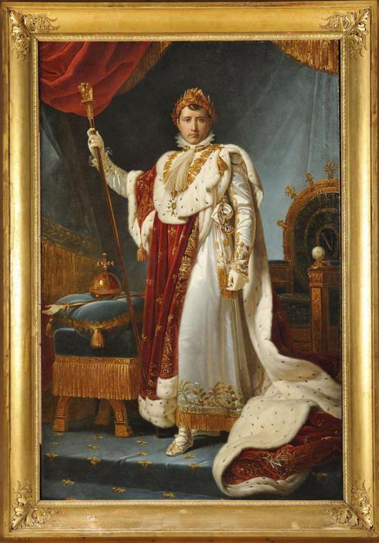 杰拉德男爵《拿破仑一世身着加冕服装的肖像》 | 布面油画 | 251×176cm | 1802年左右| 图?上海喜玛拉雅美术馆