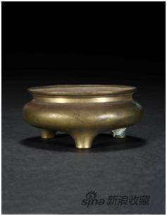 宣德款铜鬲式炉