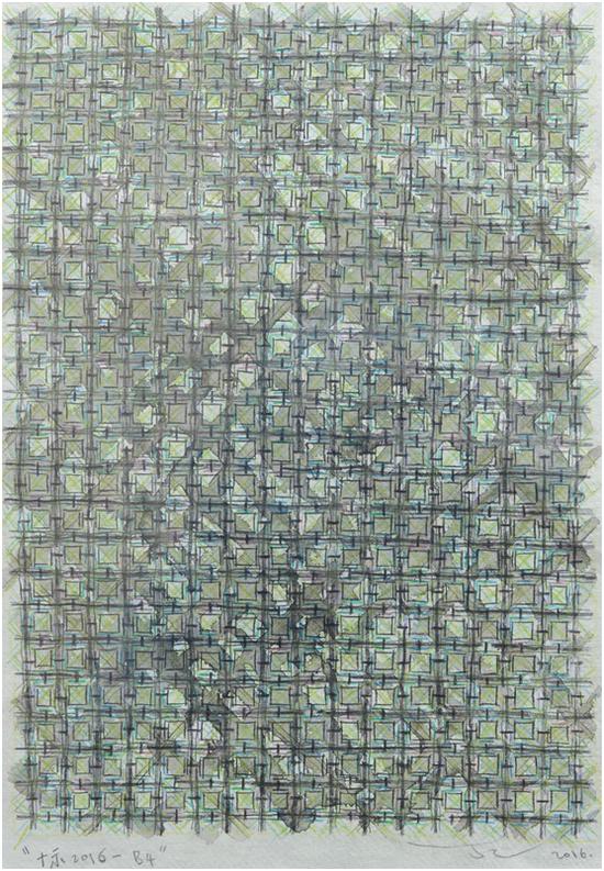 《十示》丁乙 / 手工纸上彩色铅笔 / 42.5X31CM / 2016