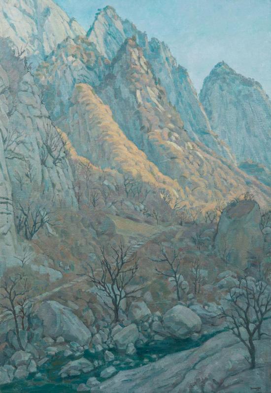 田学森油画作品:藏秋130x89cm