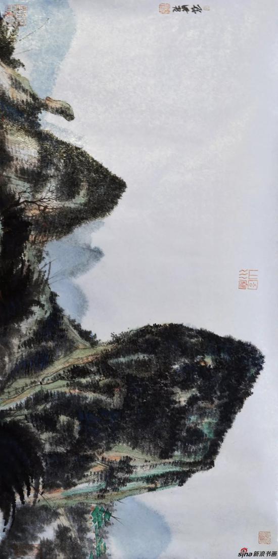 孙洪 桂林写生之二 33cm×67.3cm 纸本设色 2018