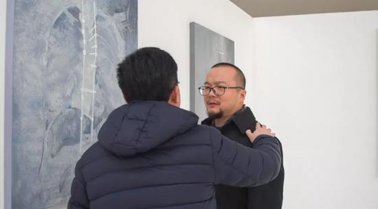 ▲蓝庆伟(艺评人、策展人、博士、广汇美术馆副馆长)