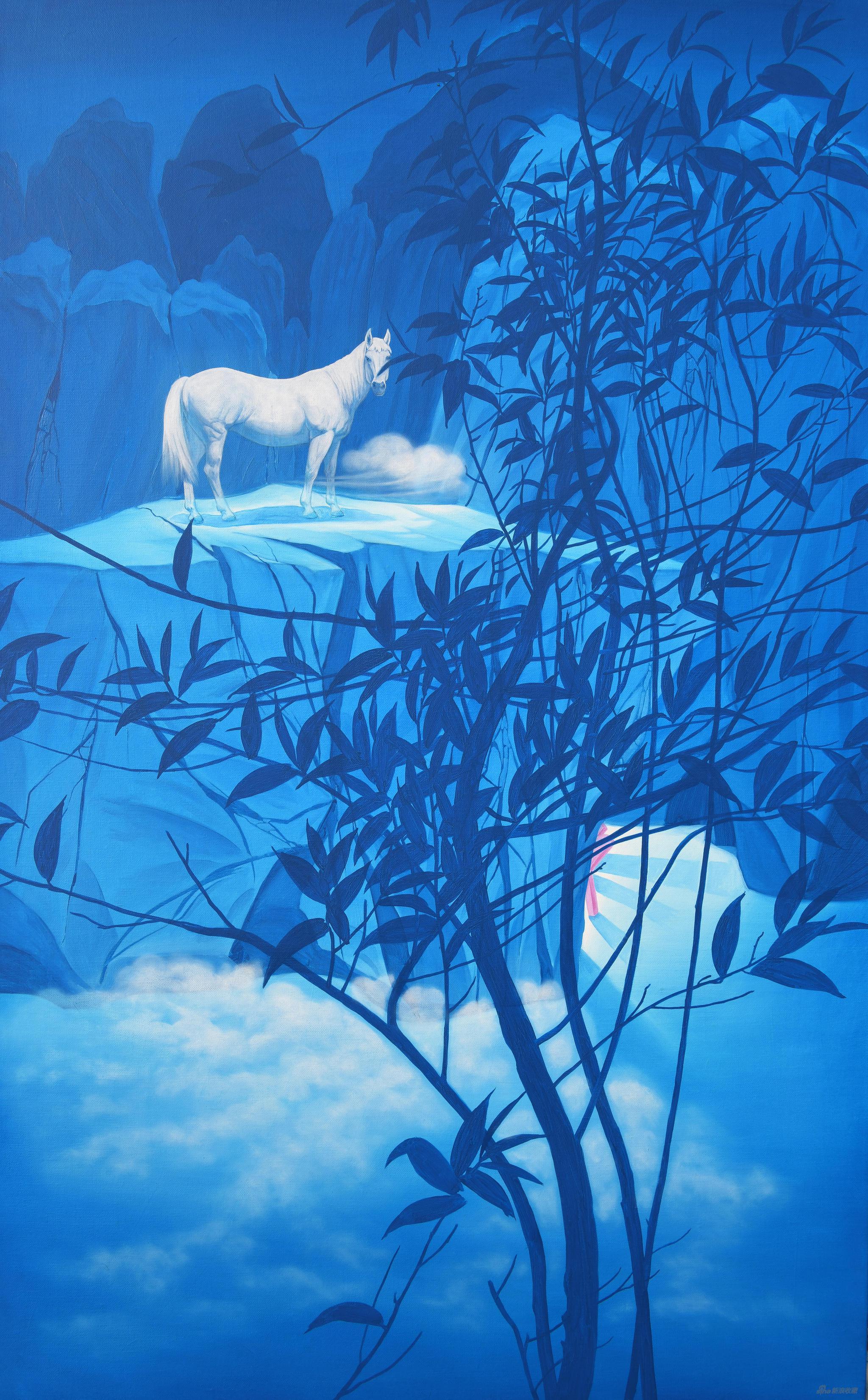 易国栋《御云No.2》100x60cm,布面油画,2020