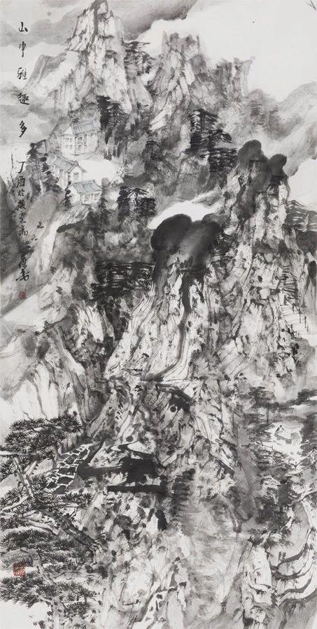 王保安 山中雅趣多 136 x 68 cm