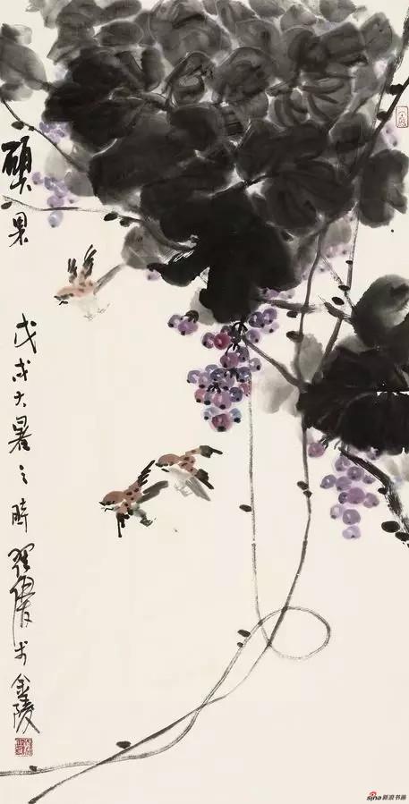 《硕果》 178cm×97cm 翟 优 江苏省中国画学会副会长